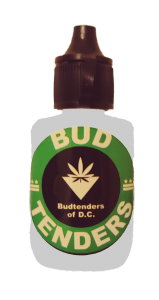 budtenders of dc logo sanitizer bottle grey